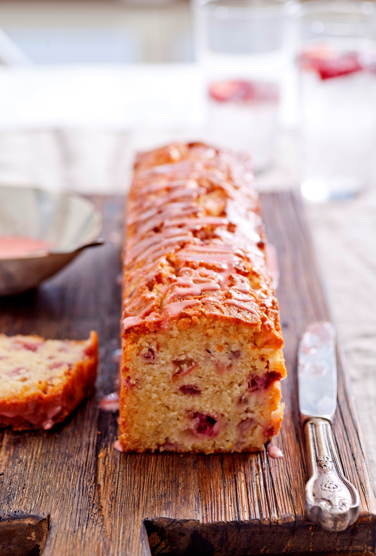 Strawberry Pound Cake sliced