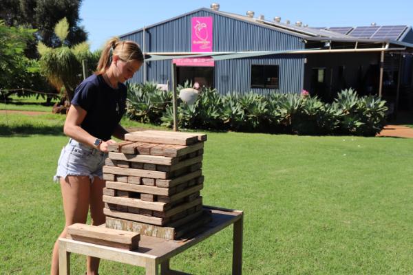 Maddie, Aussie workers from Tinaberries